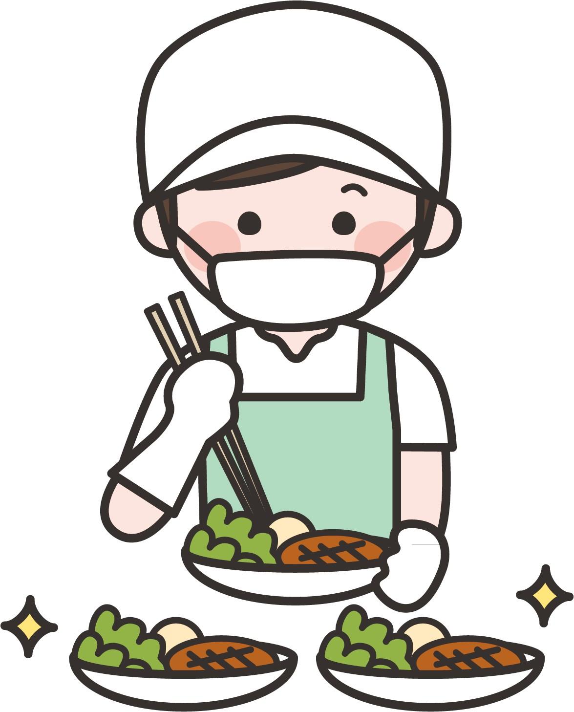 処理したお惣菜を乗せているバットや容器の洗浄作業です!